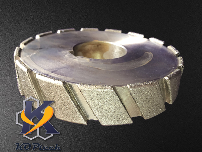 [Diamond Plated] Slotted Grinding Wheel